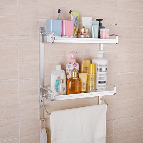 Stable Shelf Free Punching Double Layer Space Aluminum Bathroom