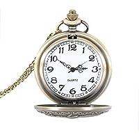 hrph Retro Steampunk Legierung Quarz Taschenuhr römischen Zahl rund Fall Kette Uhr Geschenke