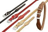 Halsband BUFFALO aus Leder RUND in 6 Farben und 7 Größen (von 32cm bis 60cm)