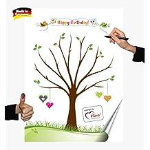 Motive, Partyspiel Fingerabdruck Baum, Hochzeit, Geburtstag, Gästebuch