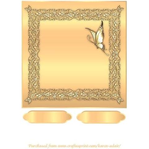 Farfalle e pizzo biglietti quadrati anteriore in Alba by Karen Adair