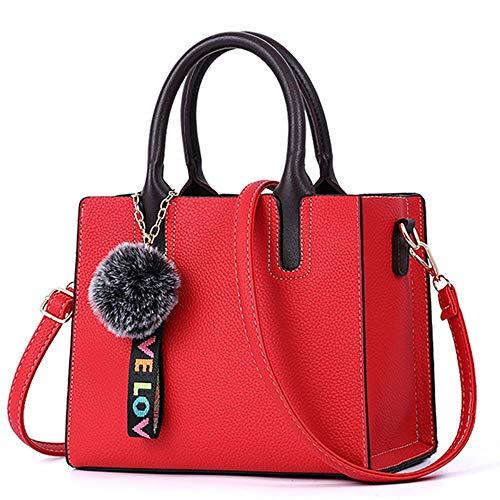 XUZISHAN Schultertasche Weiblichen Taschen Beiläufige Tote Trendige Mode Pu Leder Handtasche Messenger Bag,05