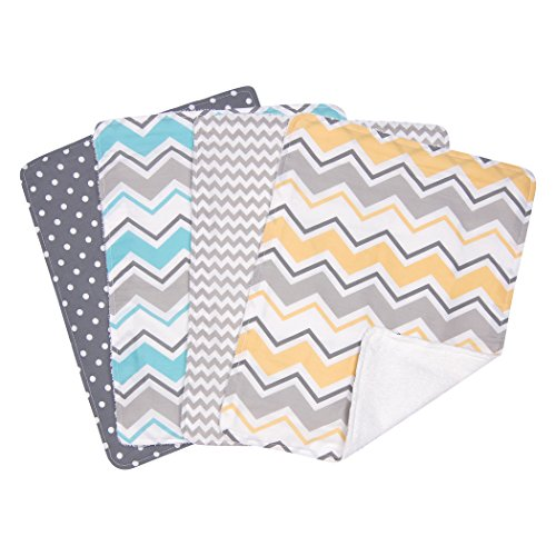 Trend Lab zigzag bouquet 4 Piece Burp Cloth