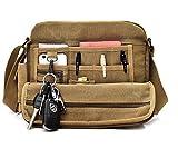 Aeoss High Quality Multifunction Men Canvas Bag Casual Travel Bolsa Masculina Men's Crossbody Bag Men Messenger Bags (BROWN)