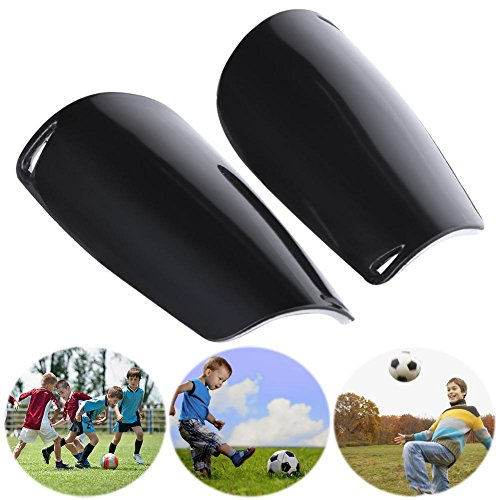 Trendyest 2pcs Adult Football Soccer Shin Guards Leg Supports Protector Pads Black