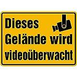 LEMAX® Schild Dieses Gelände wird videoüberwacht Alu 350x250mm (Videoüberwachung, Alarmanlage) praxisbewährt, wetterfest