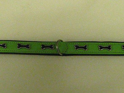 Trixie-Collare per cani con osso, taglia L, colore: verde, 55 cm, 46-52 cm)