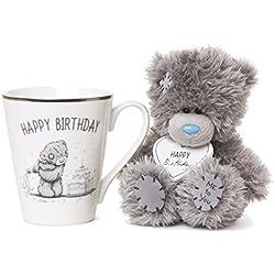 Me to You taza y gris oso de peluche feliz cumpleaños en caja Set de regalo