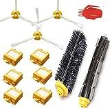 techypro® Kit pour aspirateur iRobot Roomba 700760770780Cheveu -- Filtre Lot de 6, 3Brosse latérale, et 1pc Brosse à poils et batteur souple Brosse de nettoyage, outil