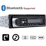 KKmoon Bluetooth Car Audio Stereo 1 DIN In Dash Radio Player with FM Aux Receiver WMA WAV MP3 Player SD/USB Port