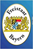 Freistaat Bayern mit wappen schild aus blech, tin sign,