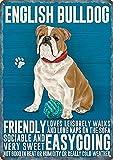 English British Bulldog Metall Schild Freundlicher geselliger unbeschwerten Hund