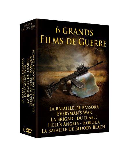 Films De Guerre 1 : La Bataille De Bassora / Everyman'S War / La Brigade Du Diable / Hell'S Angels / La Bataille De Bloody Beach / Kokoda [Edizione: Francia]