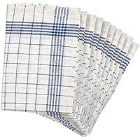 Strofinacci a quadri, confezione da 10strofinacci asciugamani da cucina, - blue, 50 x 70 (Cucina Wipe)