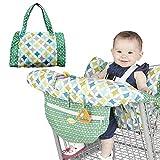 Einkaufswagenschutz für Babys oder Kleinkinder, Faltbare Schutz-Abdeckung für Einkaufswagen und Hochstuhl, Leicht und Kompakt, Universelle Passform