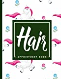 Hair Appointment Book: 7 Columns Appointment List, Appointment Scheduling Book, Easy Appointment Book, Cute Unicorns Cover