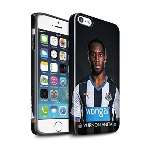 Officiel Newcastle United FC Coque / Brillant Robuste Antichoc Etui pour Apple iPhone 5/5S / Pack 25pcs Design / NUFC Joueur Football 15/16 Collection Anita