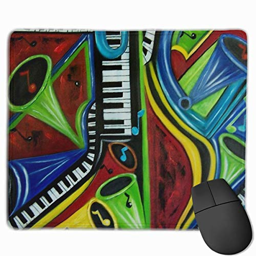 pad-Matte, Smooth Mouse Pad Color Music Sax Mobile Gaming Mousepad Work Mouse Pad Office Pad ()