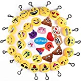 Ventdest Mini Emoji Llavero, 35 PCS Emoticon Llavero Emoji Encantadora Almohada para la...