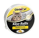 GimCat Käse-Rollis / Vitaminreicher Katzensnack mit echtem Hartkäse / 1 Dose (1 x 50 g)