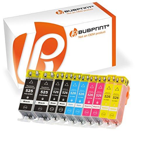 10 Stück Premium Druckerpatronen kompatibel für Canon PGI-525 CLI-526 mit Chip und...