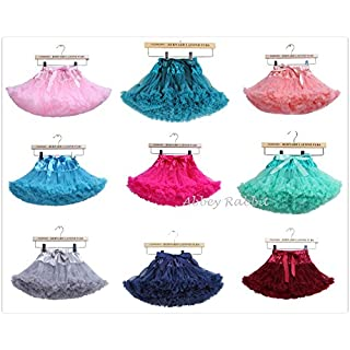Girls Fluffy RARA Skirts Pettiskirts Tutu Princess Party Skirts Ballet Dance Wear 12M-8 Years Abbey Rabbit Exclusive Distribution(L, Navy Blue)