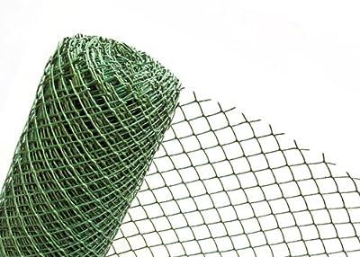 37,5m² Kunststoffzaun in 1,5m Höhe x 25m Länge Masche 50mm Gartenzaun von Terahaga®/Novmax - Du und dein Garten