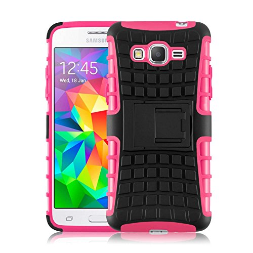 Cover Galaxy Grand Prime, JAMMYLIZARD [Alligator] Custodia Heavy Duty in Silicone TPU e Polimero per Samsung Galaxy Grand Prime, FUCSIA