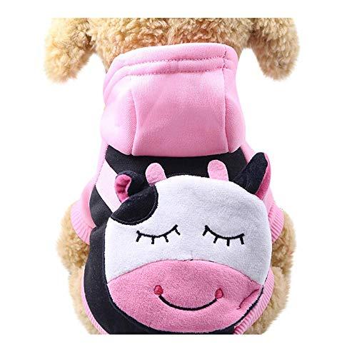 Hund Sweatshirt,Haustier Hund Cartoon Hoodie Nette Änderungsbeutel Kleidung,Winter Welpen Modische Kleidung Soft Bequem Sweatshirt,Geeignet für Kleine und Mittlere Hunde (Pink, L) -