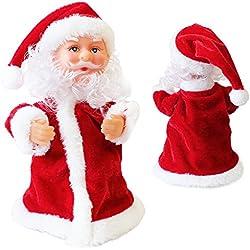Papá Noel que canta y baila en movimiento - 18 cm