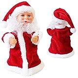 lux.pro Singender Weihnachtsmann Tanzend 18cm Weihnachts Deko Weihnachten Figur Nikolaus