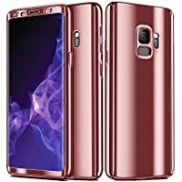 Teryei Funda Samsung Galaxy S9/S9 Plus, Hard PC Case 360 Degree protección Anti-Scratch Carcasa [Ultra Slim] Enchapado Anti-Golpes Anti-Estático Case Absorción Bumperl
