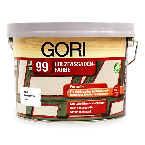 5L Gori 99 Polarweiß 8855 Holzfassaden-Farbe Wetterschutzfarbe