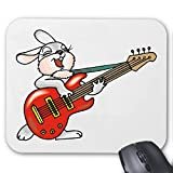 Mousepad (Mauspad) Kaninchen mit der Gitarre Cartoon Zeichentrick Spass Film Serie DVD für ihren Laptop, Notebook oder Internet PC (mit Windows Linux usw.)