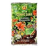COMPO SANA Qualitäts-Blumenerde mit 8 Wochen Dünger für alle Zimmer-, Balkon- und Gartenpflanzen, Kultursubstrat, 10 Liter