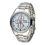 Seiko Herren Chronograph Solar Uhr mit Titan Armband SSC363P1