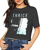 Photo de ONewteecap JohnHA Thrice The Illusion of Safety Sexy Exposed Navel Women T-Shirt Bare Midriff Crop Top T Shirts Black par ONewteecap