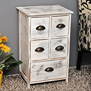 landhaus kommode schrank shabby used wei sideboard f r bad k che flur diele neu. Black Bedroom Furniture Sets. Home Design Ideas