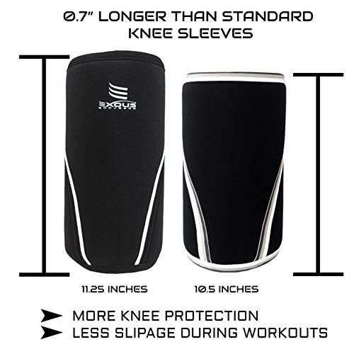 Performance-7mm-Knee-Sleeves-PAIR-Compression-Support-For-Multi-Sport-Squats-WeightPower-Lifting-Cross-Fit-Premium-SCR-Neoprene-12-Month-Money-Back-Warranty-large-141-156