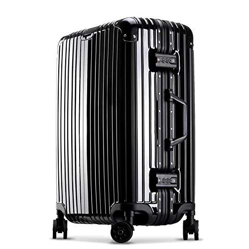 Wheeled Carry-on Gepäck (AUNLPB Wheeled Cabin Approved Travel Bag Koffer Trolley Hand Gepäck, Carry On Hand-Kabin-Bäße, Oxford Gepäck Expandable Koffer Spinner mit Lock,Black,A)
