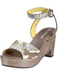 C. Doux 6070 6070 - Sandalias de vestir de cuero para mujer