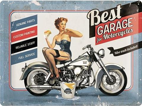 Meilleur Garage Bleu, moto, Cruiser, vélo, lavage, sexy années 50Pinup,