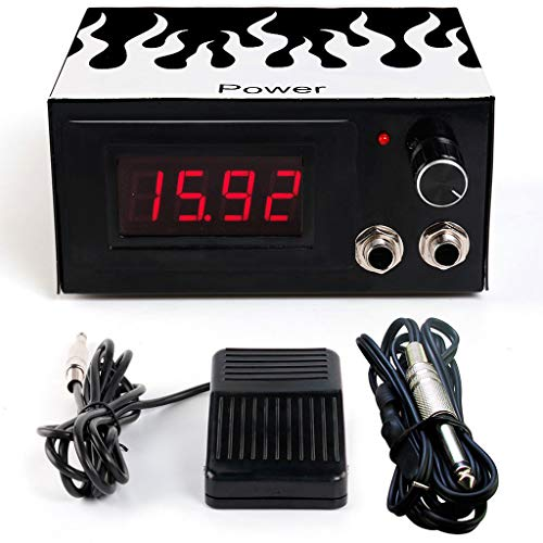 L-Y-Q Tätowierungsmaschine Vier-Bit-LCD-Display Stromversorgung Leng Power Switch Pedal Transformer (Farbe : P101 Leng Power Pedal Hook line)