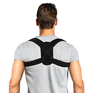"Doact Posture Corector Spinal Support for Women and Men, Upper Back Straight and Clavicle Brace with Adjustable Straps for Back, Shoulder and Neck Pain Relief, Suit for Chest Circumference 28"" - 35"""
