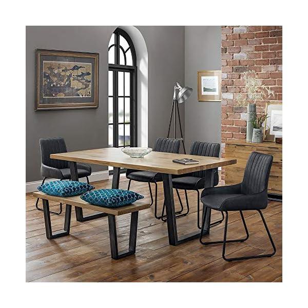 Julian Bowen Brooklyn Dining Set with 4 Soho Chairs & Bench Julian Bowen  1