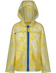 Regatta Great Outdoors - Chaqueta chubasquera con capucha modelo Epping para niñas (34/Transparente)
