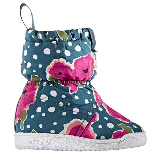 adidas Baby Winter Boot Kinder Schnee Stiefel Winterschuhe dick gefüttert Blumen, Schuhgröße:EUR 27, Farbe:Mehrfarbig (Adidas Kinder Blume)
