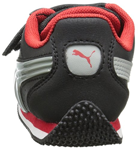 Puma Speed Light-Up V Inf Leder Turnschuhe Black-Gray-Red