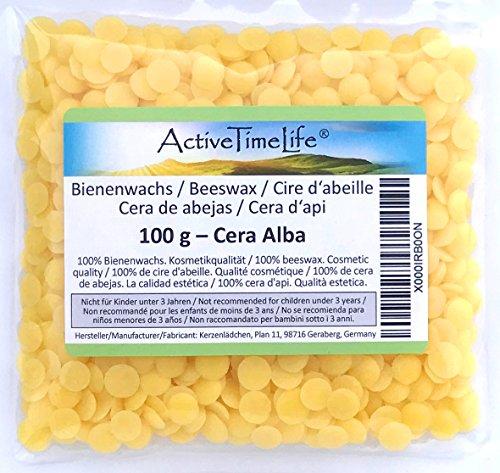 0.1% Lotion (100% reine Bienenwachs Pastillen Bio, gelb, 100 g, für Kosmetik Kerzen Cremes Salben Seifen)
