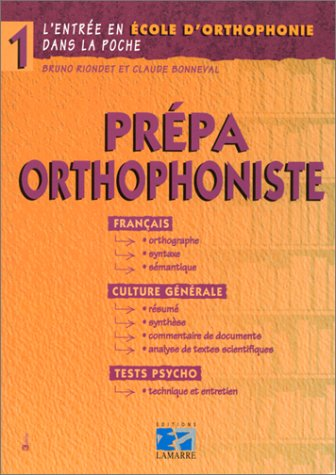 PREPA ORTHOPHONISTE